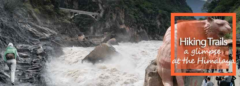 Hike through the famed Tiger Leaping Gorge - water flow Yangtze river