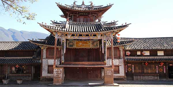 The ancient theater in Shaxi - Yunnan province